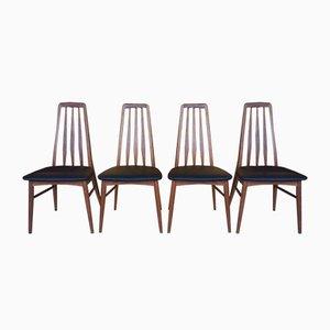 Eva Teak Stühle von Niels Koefoed Hornslet, 1960er, 4er Set