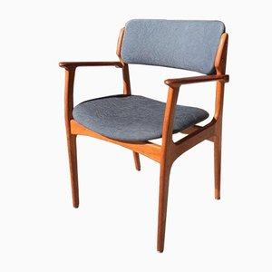 Danish Teak Captain's Chair by Erik Buch for O.D. Møbler, 1960s