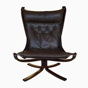Leather Falcon Chair by Sigurd Ressel for Vatne Møbler, 1960s