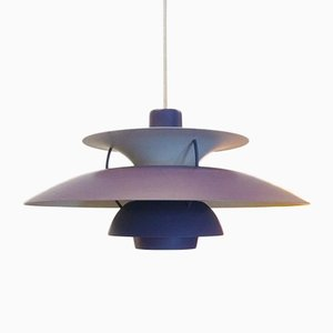 Ph5 Purple Ceiling Lamp by Louis Poulsen, 1960s