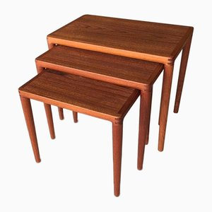 Danish Nesting Tables from Bramin, 1950s