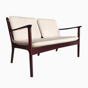 Dänisches Modell Pj112 Sofa aus Mahagoni von Ole Wanscher für Poul Jeppesen, 1960er