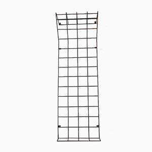 Minimalistic Modern Danish String Teak Hanging Shelf With Hat Rack