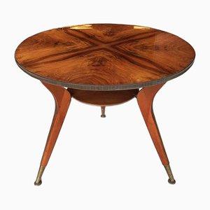 Mahogany and Teak Side Table, 1960s