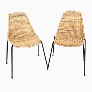 Basket Chairs, 1950s, Set of 2