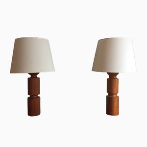 Danish Modern Table Lamps, 1960s, Set of 2