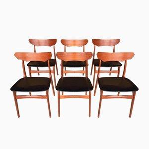 Danish Teak Chairs by Schiønning & Elgaard for Randers, Set of 6