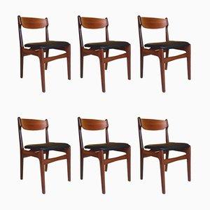 Danish Teak Chairs by Erik Buch, 1960s, Set of 6