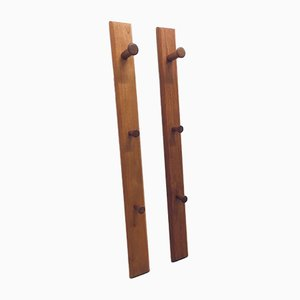 Minimalistic Teak Wall Hooks by Aksel Kjersgaard for Odder Møbler, Set of 2