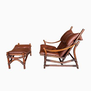 Asian Bamboo Easy Chair, 1950s