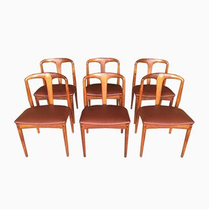 Danish Teak Juliane Chairs by Johannes Andersen for Uldum, Set of 6