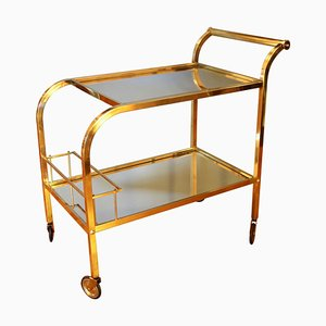 Mid-Century French Brass Trolley, 1930s