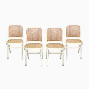 Vintage Nr. 811 Beistellstühle von Josef Hoffmann für Thonet, 4er Set