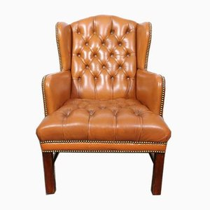 Antique Chesterfield Cognac Leather Lounge Chair