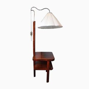Floor Lamp with Side Table, 1930s