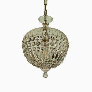 Bohemian Crystal Medusa Ceiling Lamp, 1940s