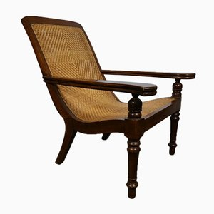 Antique Colonial Teak Armchair
