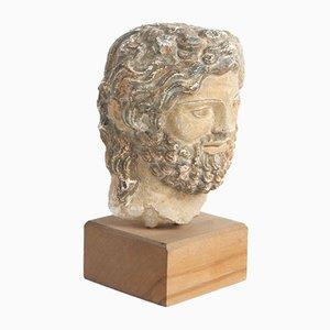 Sculpture Fine Tête Romaine en Grès, Italie, 16ème Siècle
