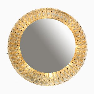 Mid-Century Modern German Illuminated Wall Mirror with Glass Stones from Schöninger, 1960s