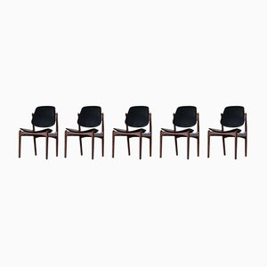 Danish Modern Dining Chairs by Arne Vodder for France & Søn / France & Daverkosen, 1960s, Set of 5