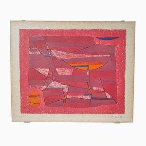 Gustave Singier Heure, Meridienne Abstrakte Kunst, 1950er
