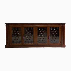 Antiker verglaster Astragal Bücherschrank mit 4 Türen