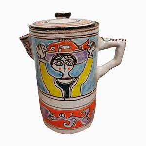 Mid-Century Pottery Pitcher by Giovanni De Simone
