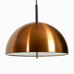 Space Age Pendant Lamp with Copper Lampshade from Staff, 1970s