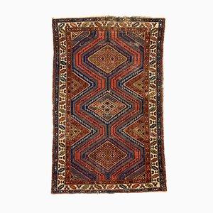 Vintage Zanjan Teppich in Rot & Blau, 1950er