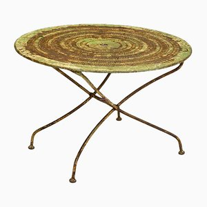 Green Folding Garden Table