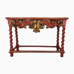 Antiker Deutscher Kirchentisch mit Dekorativer Holzschnitzerei, 19. Jahrhundert