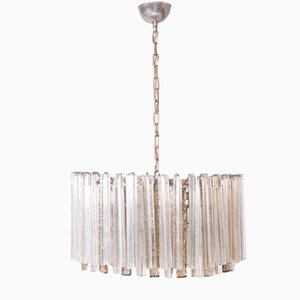 Murano Glass Ceiling Lamp from Venini, 1950s