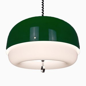 Large Mid-Century Italian Green Model Meduza Pendant Lamp from Guzzini, 1970s