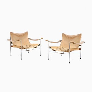 Mid-Century Model D99 Leather Lounge Chairs by Hans Könecke for Tecta, Set of 2