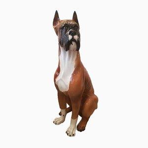 Vintage Ceramic Boxer Dog Figure, 1960s