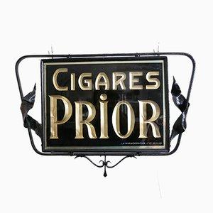 Doppelseitiges gestrichenes Vintage Cigar Hängendes Werbeschild