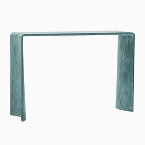 Table Console Tadao Alto en Palissandre de Couleur Ultramarine de Forma e Cemento