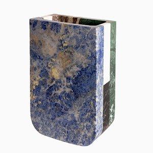 Vaso Piero in marmo multicolore di Arthur Arbesser per MMairo