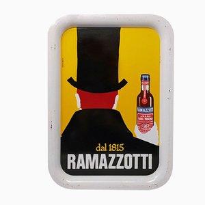Vintage Italian Ramazzotti Rectangular Bar Tray, 1970s