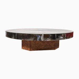 Tavolino da caffè specchiato vintage