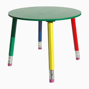 French Postmodern Childrens Table by Pierre Sala, 1980s