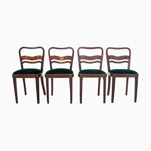 Art Deco Chairs, 1960s, Poland, Set of 4