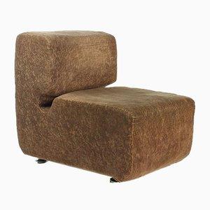 Velvet Hotel Kyjev Lounge Chair by Ivan Matusik, Czechoslovakia, 1970s