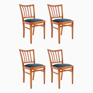 Polish Dining Chairs, 1960s, Set of 4