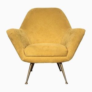 Vintage Italian Winged Lounge Chair, 1950s