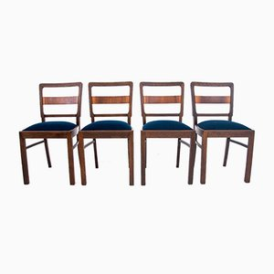 Art Deco Polish Dining Chairs, 1960s, Set of 4