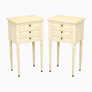 Painted Bedside Drawers, 1950s, Set of 2