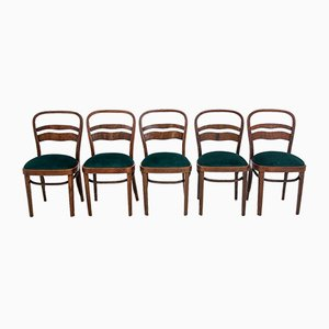 Art Deco Polish Dining Chairs, 1960s, Set of 5