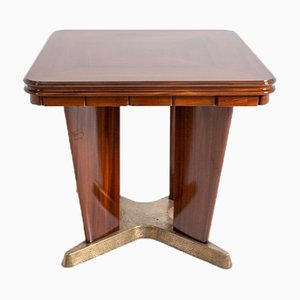 Italian Game Table In In Walnut and Brass by Giorgio Ramponi, 1950s