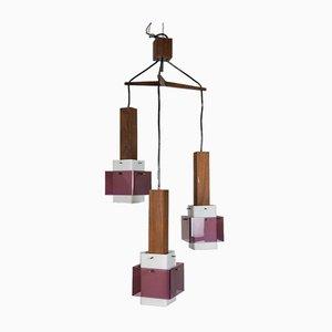 Lampada da soffitto vintage a 3 luci di Guzzini, anni '60
